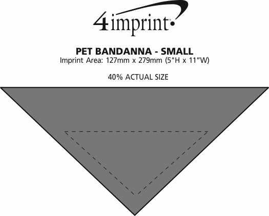 Imprint Area of Dog Bandana - Small