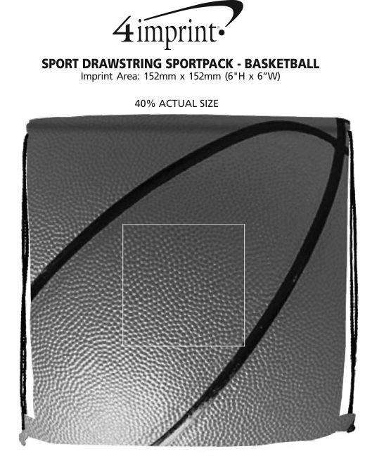 Imprint Area of Sport Drawstring Sportpack - Basketball
