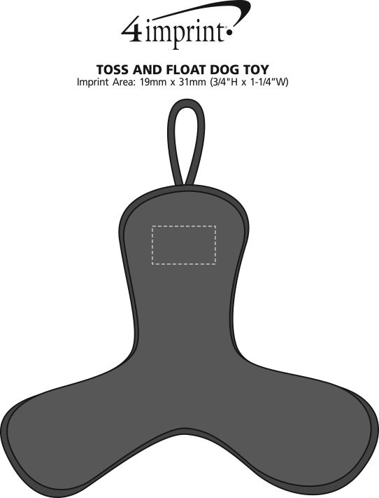 Imprint Area of Toss and Float Dog Toy
