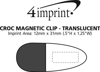 Imprint Area of Croc Magnetic Clip - Translucent