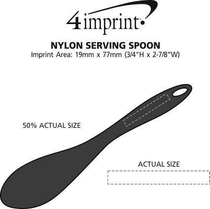 Imprint Area of Nylon Serving Spoon