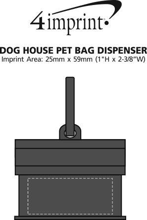 Imprint Area of Dog House Pet Bag Dispenser