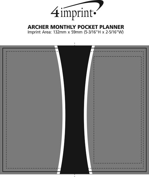 Imprint Area of Archer Monthly Pocket Planner