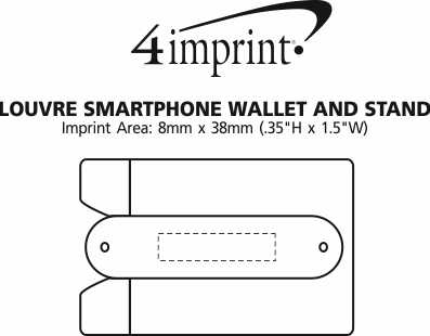 Imprint Area of Louvre Smartphone Wallet and Stand