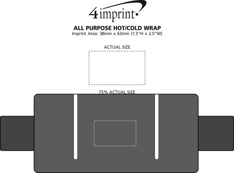Imprint Area of All Purpose Hot/Cold Wrap