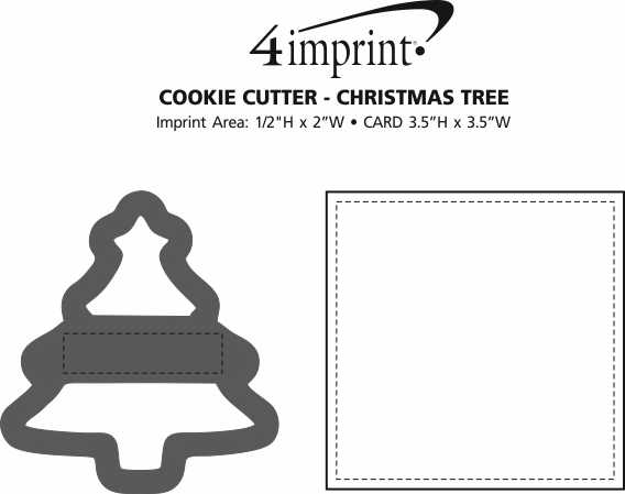 Imprint Area of Cookie Cutter - Christmas Tree