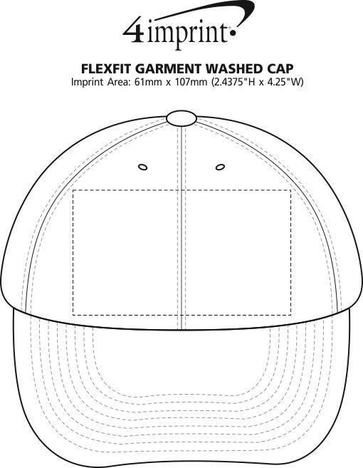 Imprint Area of Flexfit Garment Washed Cap - Closeout