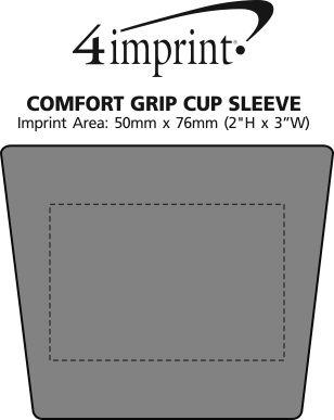 Imprint Area of Comfort Grip Cup Sleeve