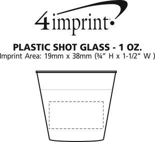 Imprint Area of Plastic Shot Glass - 1 oz.