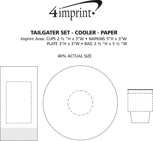 Imprint Area of Tailgater Set - Cooler - Paper