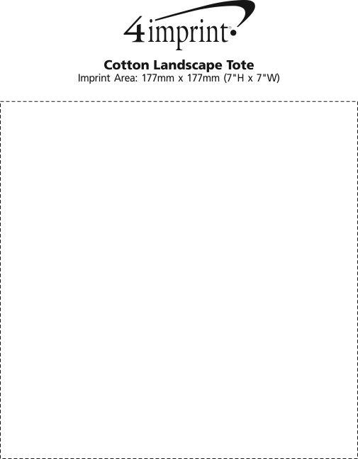 Imprint Area of Cotton Landscape Tote