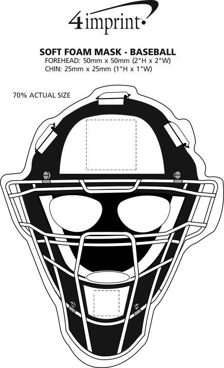 Imprint Area of Soft Foam Mask - Baseball