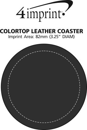 Imprint Area of Colourtop Leather Coaster