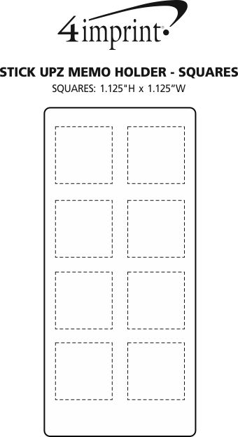 Imprint Area of Stick Upz Memo Holder - Squares