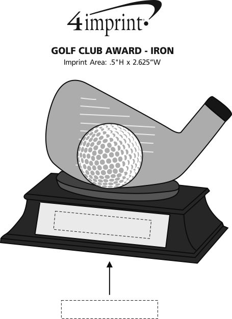 Imprint Area of Golf Club Award - Iron
