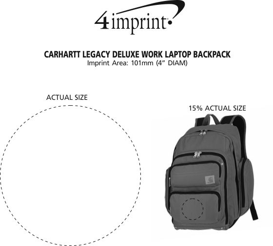 Imprint Area of Carhartt Legacy Deluxe Work Laptop Backpack
