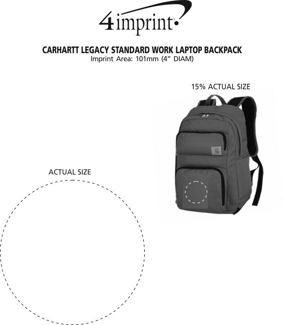 Imprint Area of Carhartt Legacy Standard Work Laptop Backpack