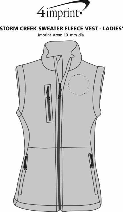 Imprint Area of Storm Creek Sweater Fleece Vest - Ladies'