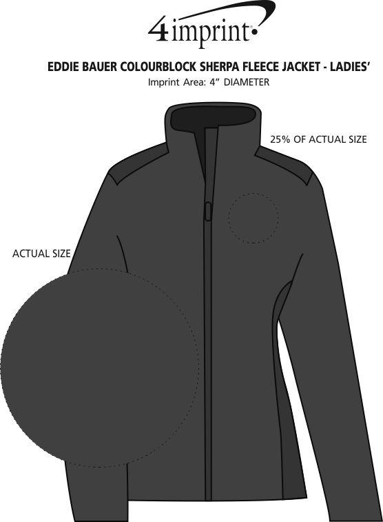 Imprint Area of Eddie Bauer Colourblock Sherpa Fleece Jacket - Ladies'