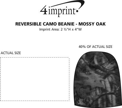 Imprint Area of Reversible Camo Beanie