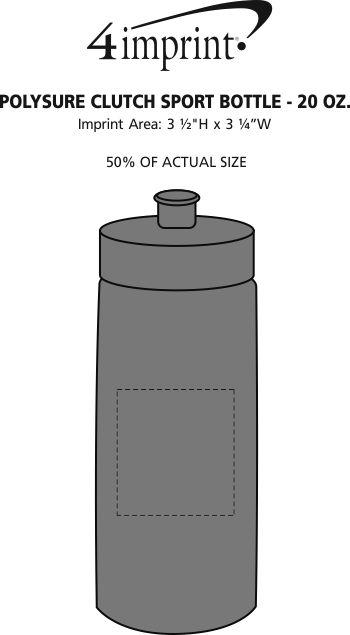 Imprint Area of Refresh Clutch Water Bottle - 20 oz.
