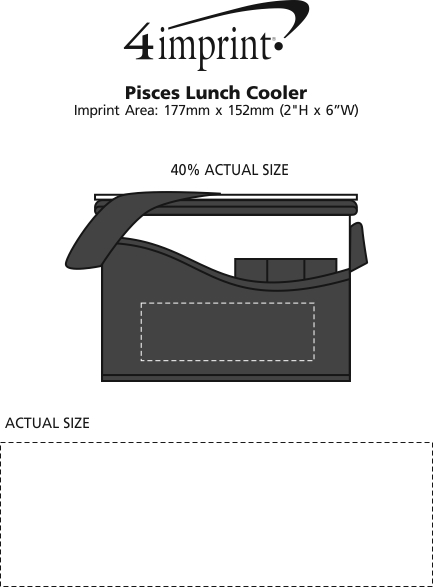 Imprint Area of Pisces Lunch Cooler - Closeout