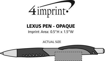Imprint Area of Lexus Pen - Opaque