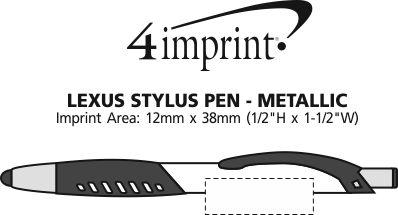 Imprint Area of Lexus Stylus Pen - Metallic