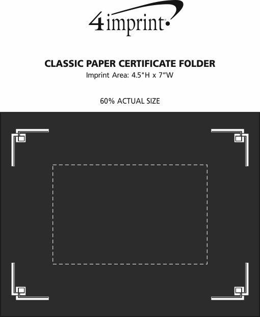 Imprint Area of Classic Paper Certificate Holder
