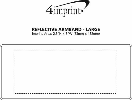 Imprint Area of Reflective Armband - Large
