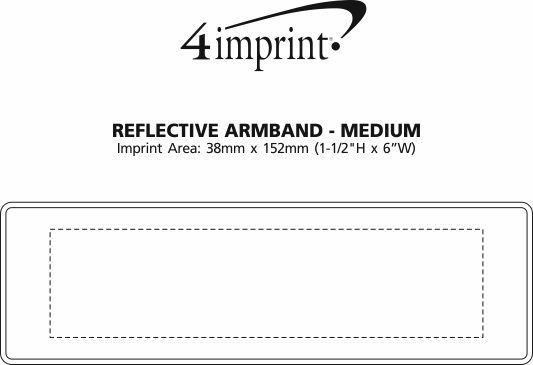 Imprint Area of Reflective Armband - Medium