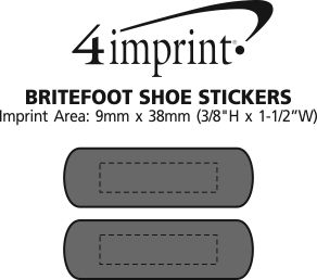 Imprint Area of Reflective Britefoot Shoe Stickers