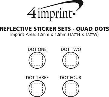 Imprint Area of Reflective Sticker Set - Quad Dots