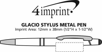 Imprint Area of Glacio Stylus Metal Pen