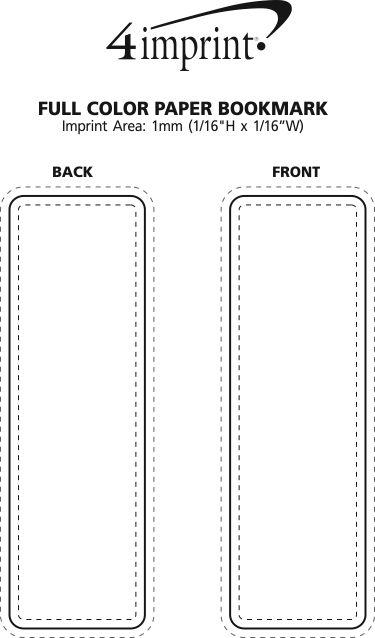 Imprint Area of Full Colour Paper Bookmark