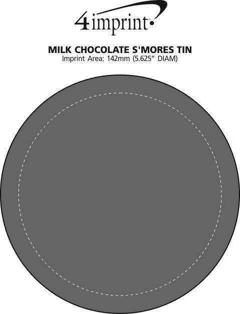 Imprint Area of Milk Chocolate S'Mores Tin