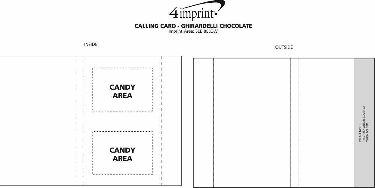 Imprint Area of Calling Card - Ghirardelli Chocolate