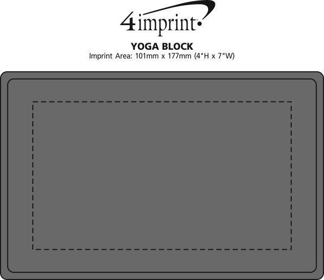 Imprint Area of Yoga Block - Closeout