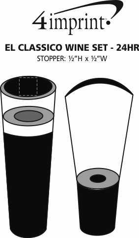 Imprint Area of El Classico Wine Set - 24 hr