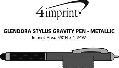 Imprint Area of Glendora Stylus Gravity Pen - Closeout