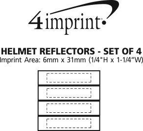 Imprint Area of Helmet Reflectors - Set of 4