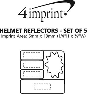 Imprint Area of Helmet Reflectors - Set of 5
