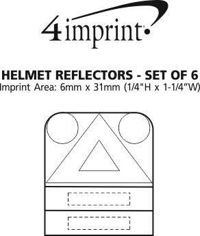 Imprint Area of Helmet Reflectors - Set of 6