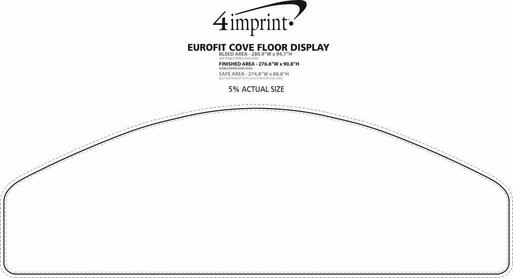 Imprint Area of EuroFit Cove Floor Display