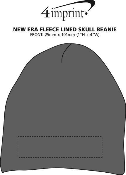 Imprint Area of New Era Fleece Lined Skull Beanie
