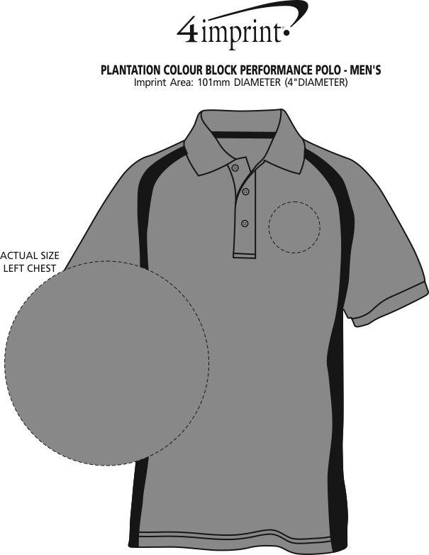 Imprint Area of Plantation Colour Block Performance Polo - Men's