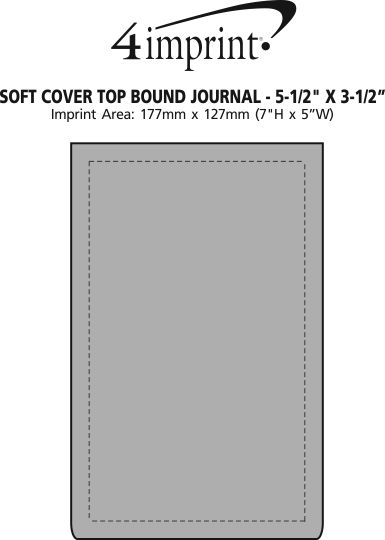 "Imprint Area of Soft Cover Top Bound Journal - 5-1/2"" x 3-1/2"""