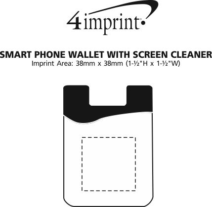Imprint Area of Smartphone Wallet with Screen Cleaner