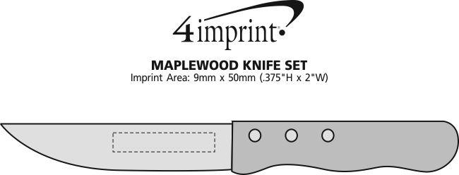 Imprint Area of Maplewood Knife Set