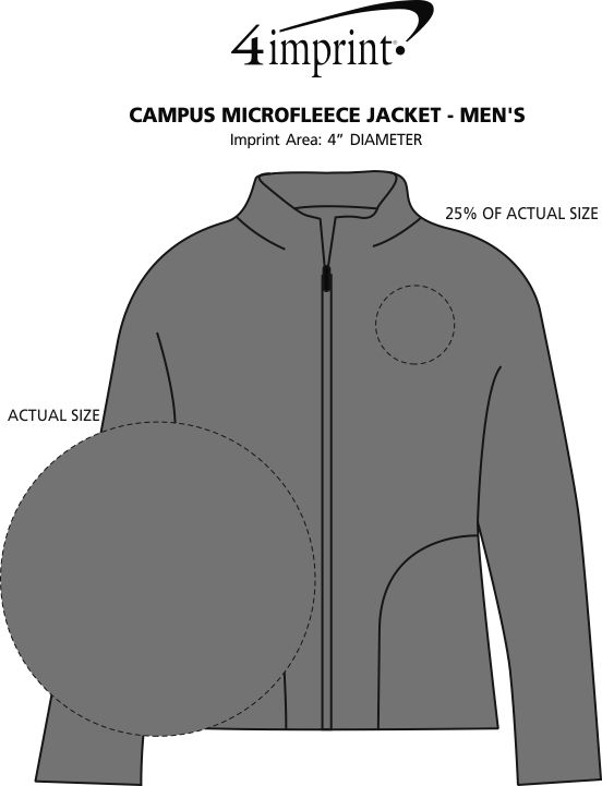 Imprint Area of Campus Microfleece Jacket - Men's
